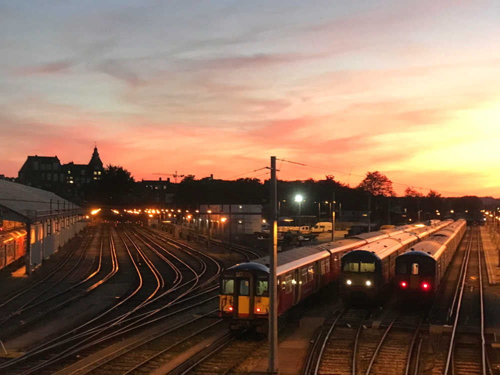 trains-clapham-junction-sunset