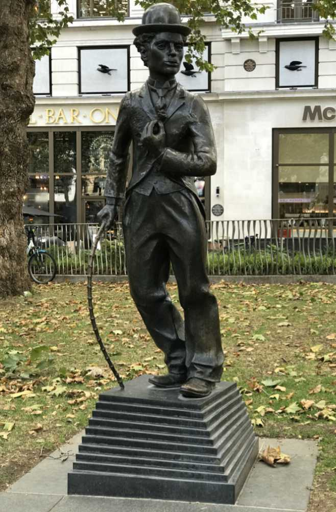 Charlie-chaplin Bronzes in Leicester Square, London